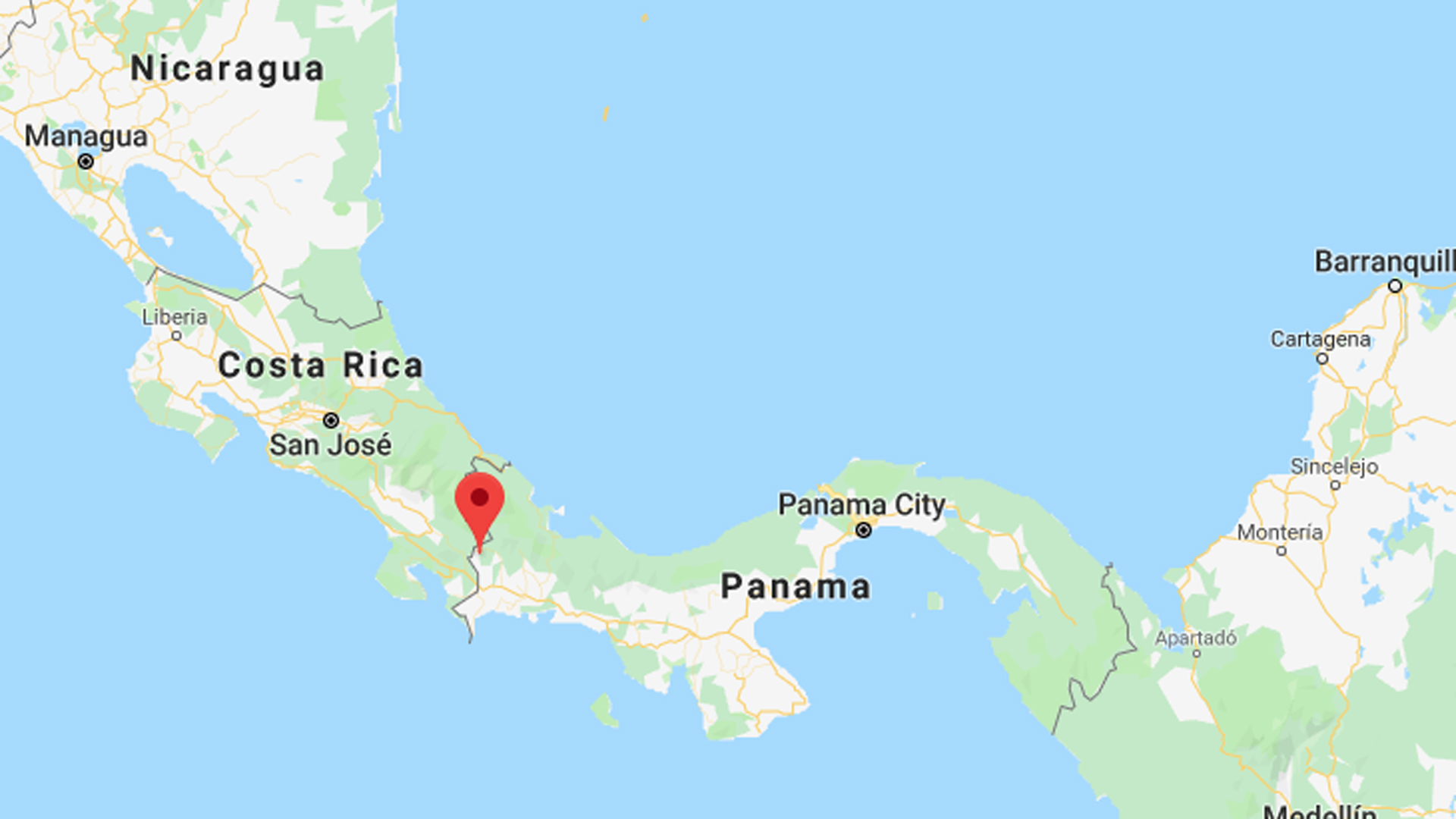The area of Plaza de Caisan, Panama is indicated here. (Credit: Google Maps)