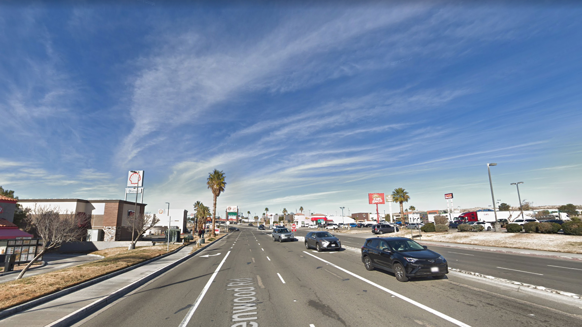 An area of Barstow where a traffic stop led to a shooting on May 4, 2019, is seen in this undated image from Google Maps.