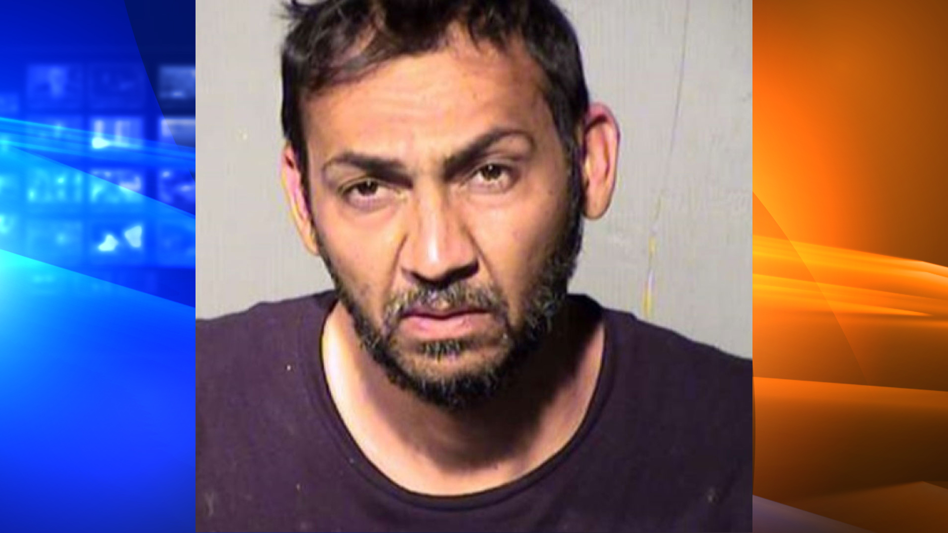 Danny Nicholas is seen in a booking photo obtained by KNXV and distributed by the CNN Wire.
