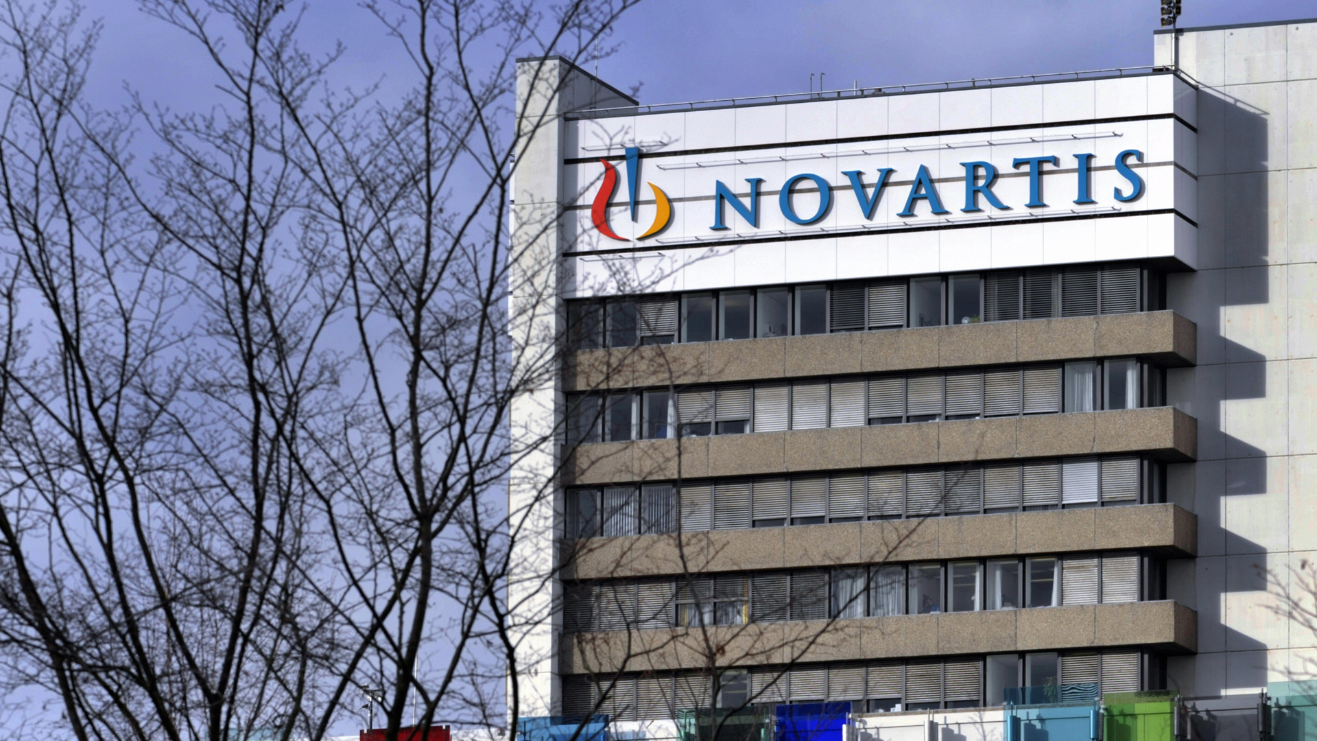 Swiss drugs giant Novartis headquarters are seen in January 17, 2008, in Basel Switzerland. (Credit: FABRICE COFFRINI/AFP/Getty Images)