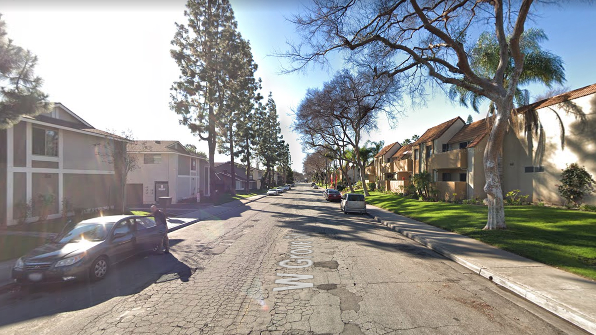 The 200 block of West Grove Street in Pomona, as viewed in a Google Street View image in February of 2019.