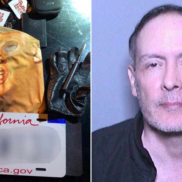 Rory Zimmerman is seen in a booking photo provided by the Orange County Sheriff's Department on May 27, 2019. The agency also released an image of a Donald Trump mask he allegedly used while causing damage to a parked vehicle in Mission Viejo.