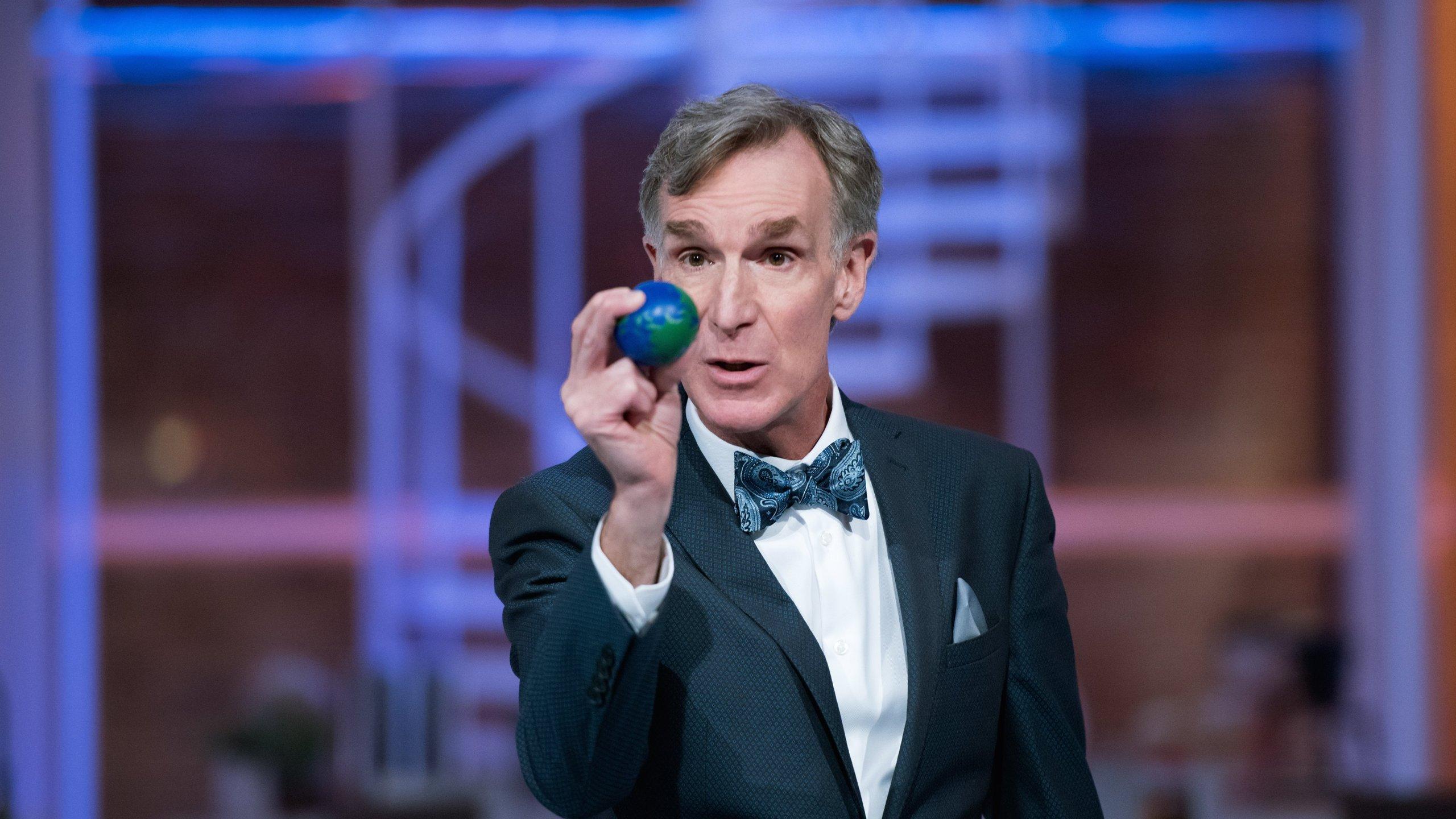 "Bill Nye Appears on the Netflix series, ""Bill Nye Saves the World."" (Credit: Bunim-Murray Productions via CNN)"