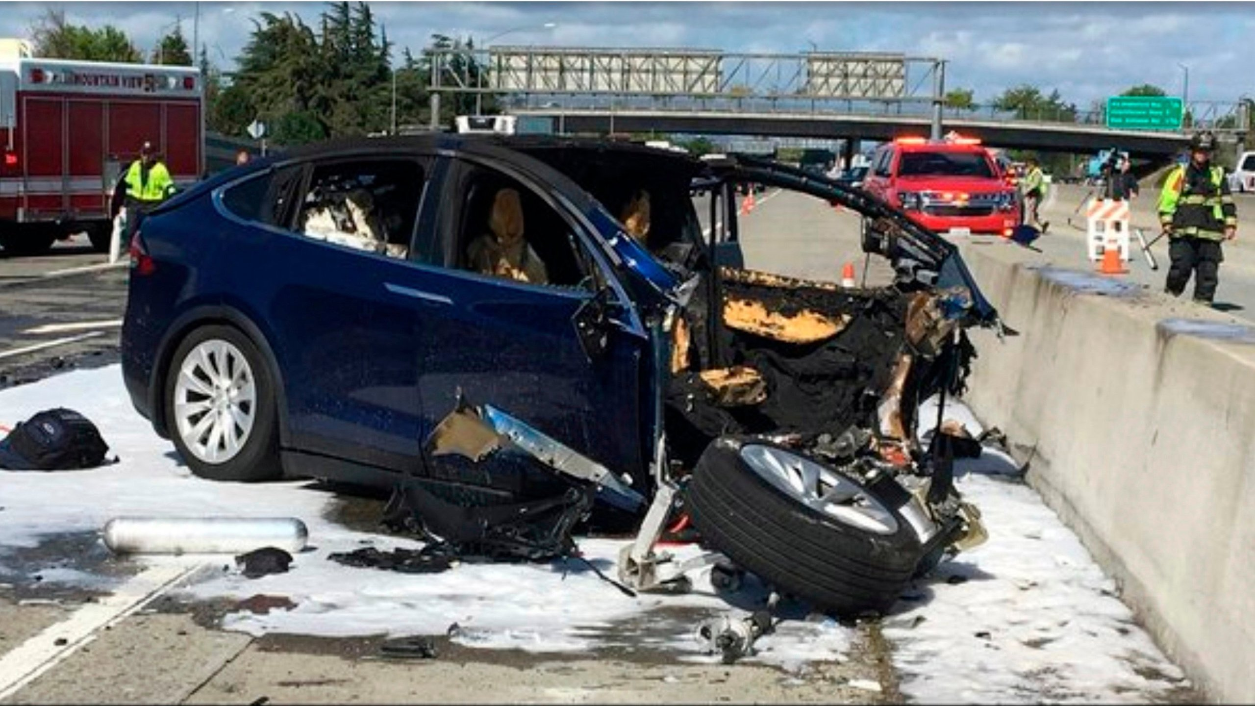 The family of an Apple engineer killed in a crash of his Tesla last year is suing the automaker, saying the Autopilot feature on the car caused his death. (Credit: Eric Marrapodi/CNN)