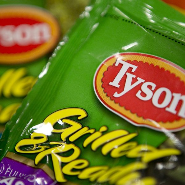A Tyson Foods product is seen in this undated photo. (Credit: Andrew Harrer/Bloomberg/Getty via CNN)