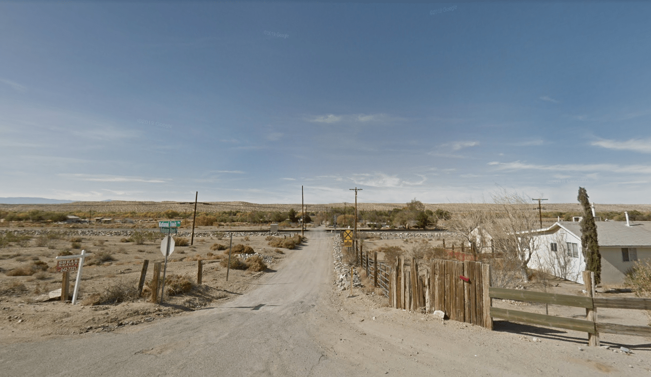 The area of Robinson Ranch Road in Oro Grande is seen in a Google Maps Street View image on May 23, 2019.