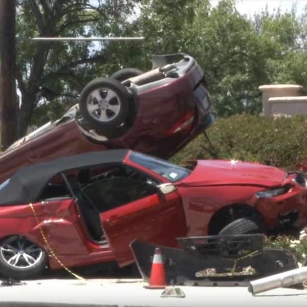 The scene of a traffic collision in Menifee on May 25, 2019. (Credit: RVCNEWS)