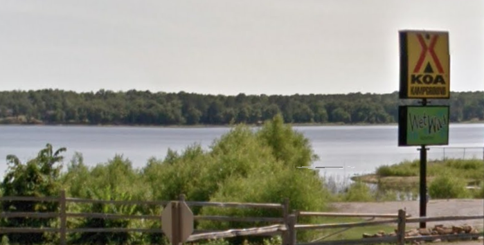 The entrance to a KOA campground in Starkville, Miss. is seen in this Google Maps image.