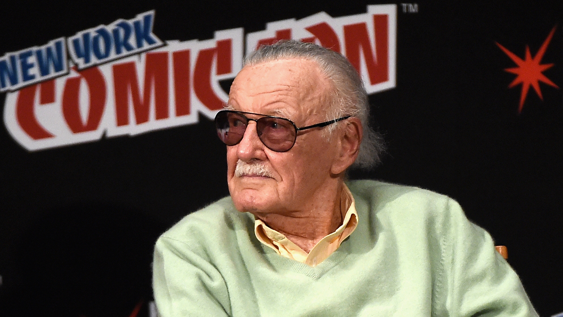 Stan Lee speak onstage at Stan Lee Creators Roundtable at Madison Square Garden on Oct. 7, 2016, in New York City. (Credit: Nicholas Hunt/Getty Images)