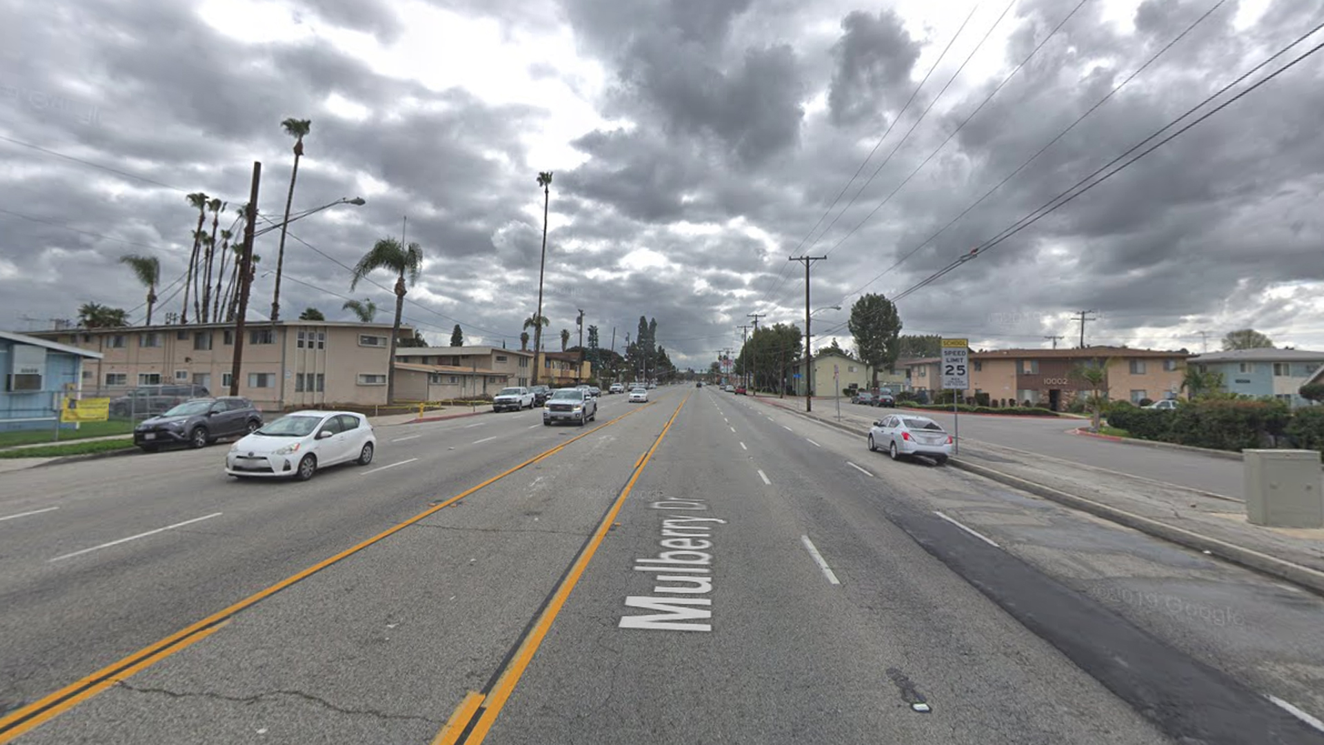 The 14100 block of Mulberry Drive in South Whittier, as viewed in a Google Street View image in March of 2019.