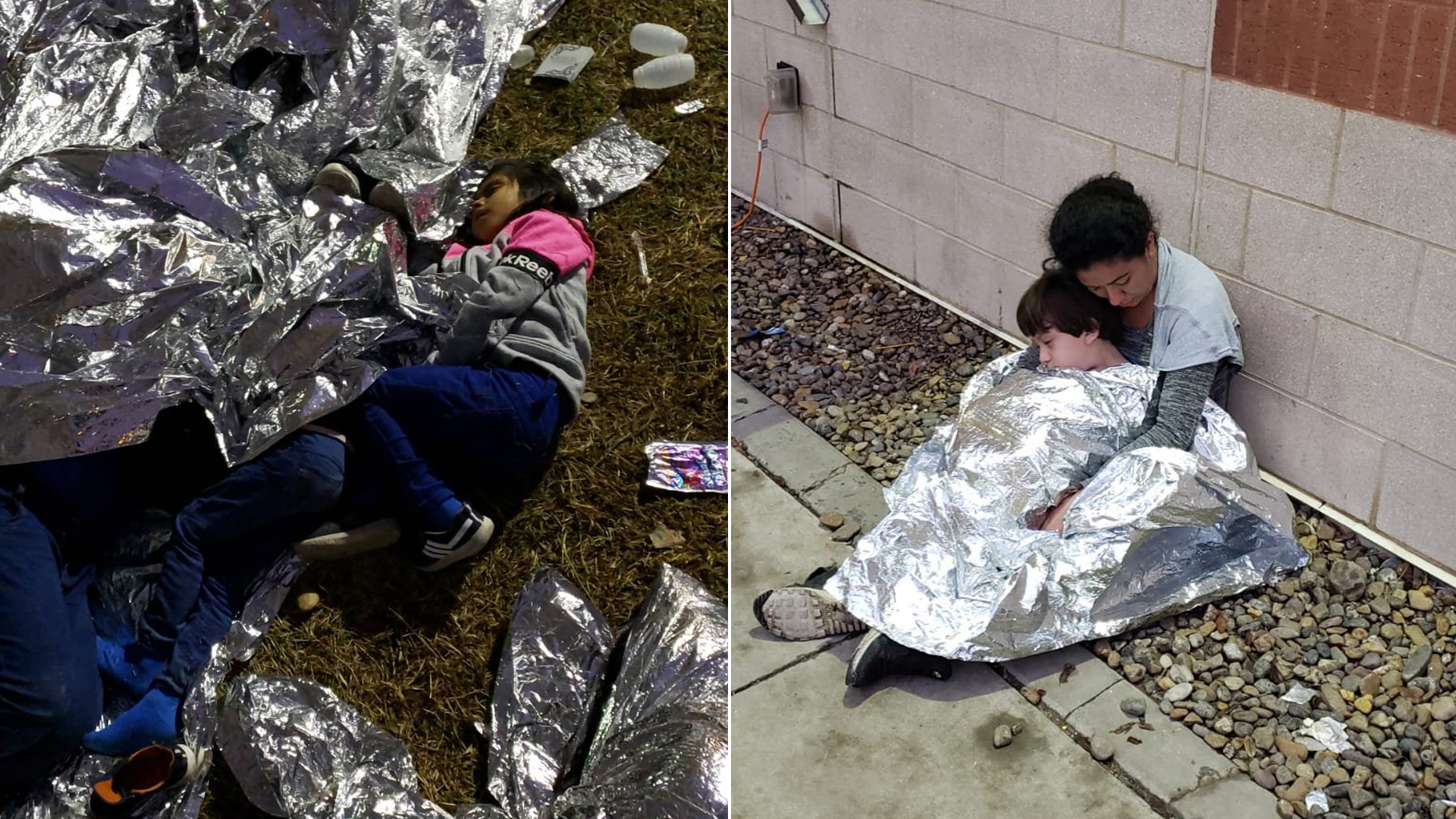Photos taken of the Border Patrol station in McAllen, Texas, in May 2019. CNN obtained the photos from a source.