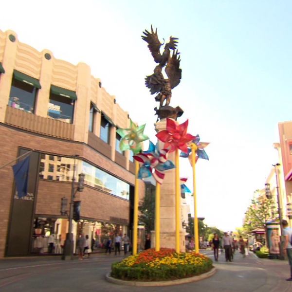 The Grove is seen in an undated image. (Credit: KTLA)