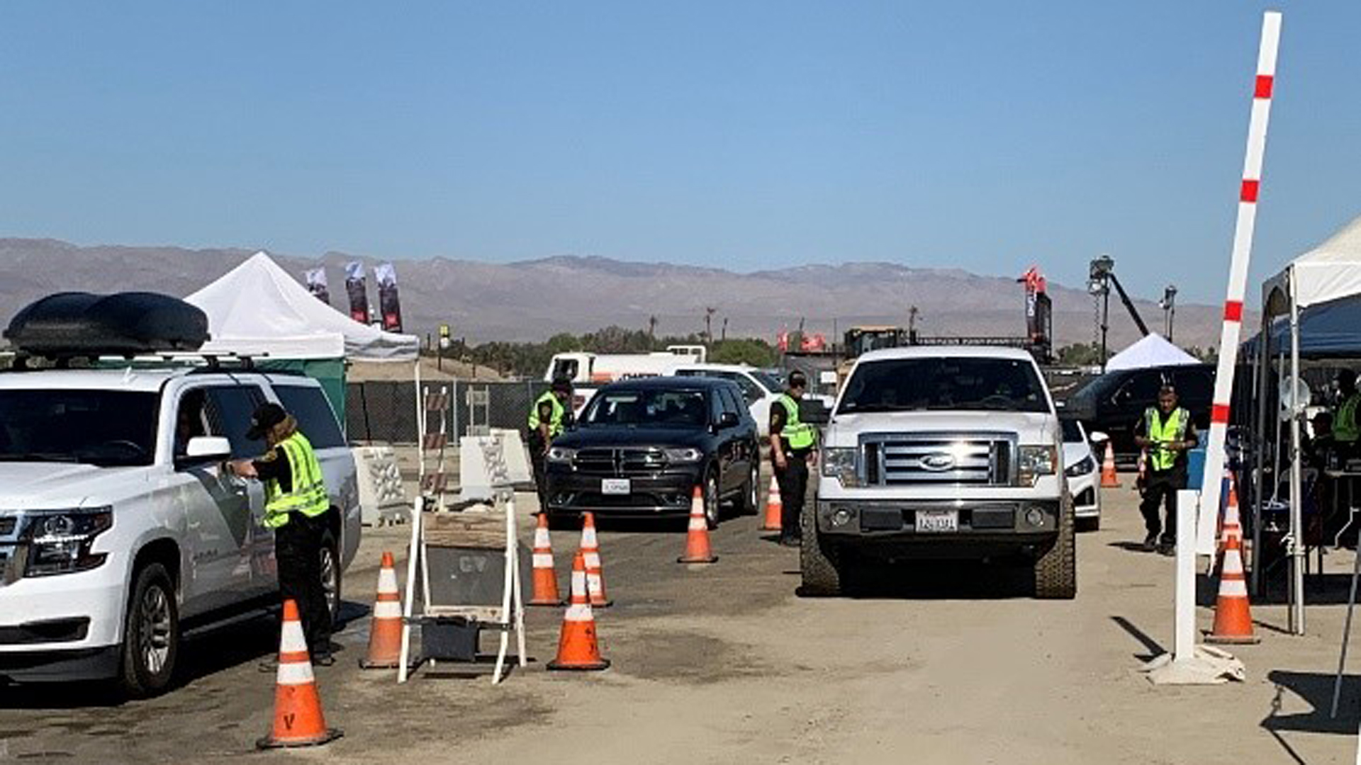 Officials cracked down on drivers fraudulently using disabled parking placards at the Coachella and Stagecoach concerts in Indio in April. (Credit: California Department of Motor Vehicles)