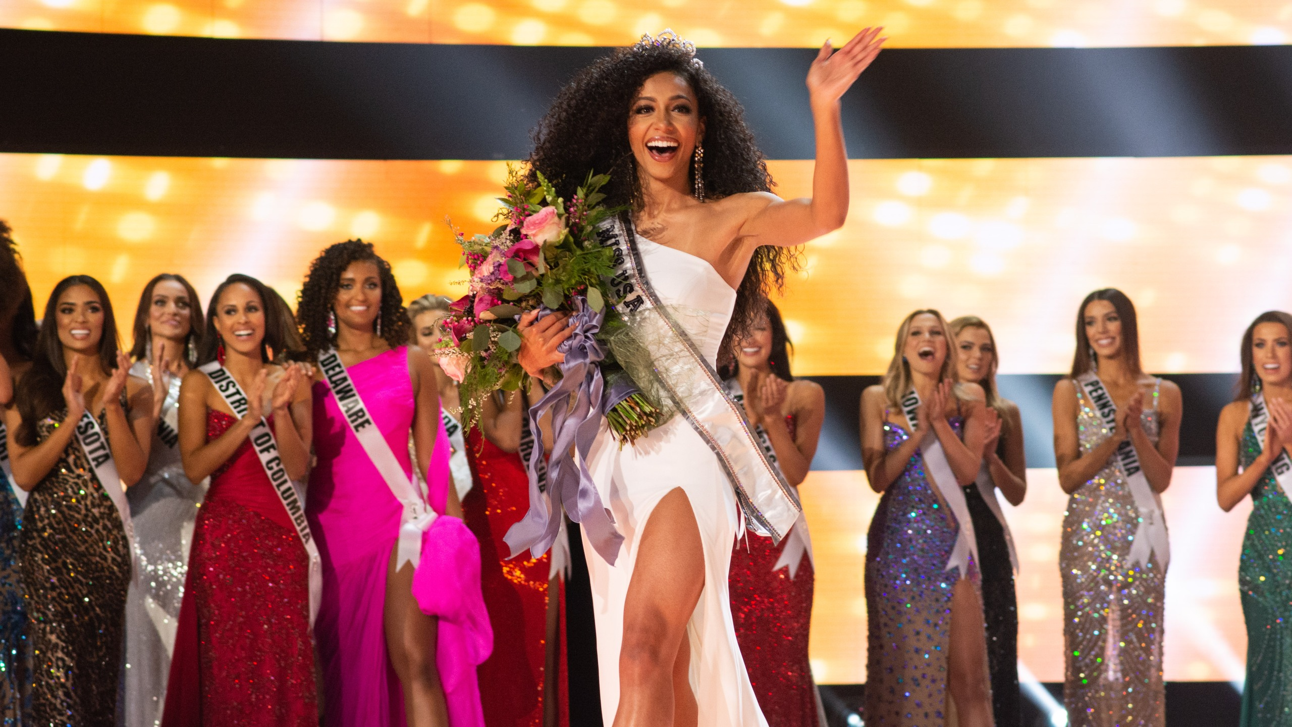 Miss North Carolina Cheslie Kryst is crowned Miss USA at the Grand Sierra Resort in Reno, Nevada, on May 2, 2019. (Credit: Frank L. Szelwach / The Miss Universe Organization)