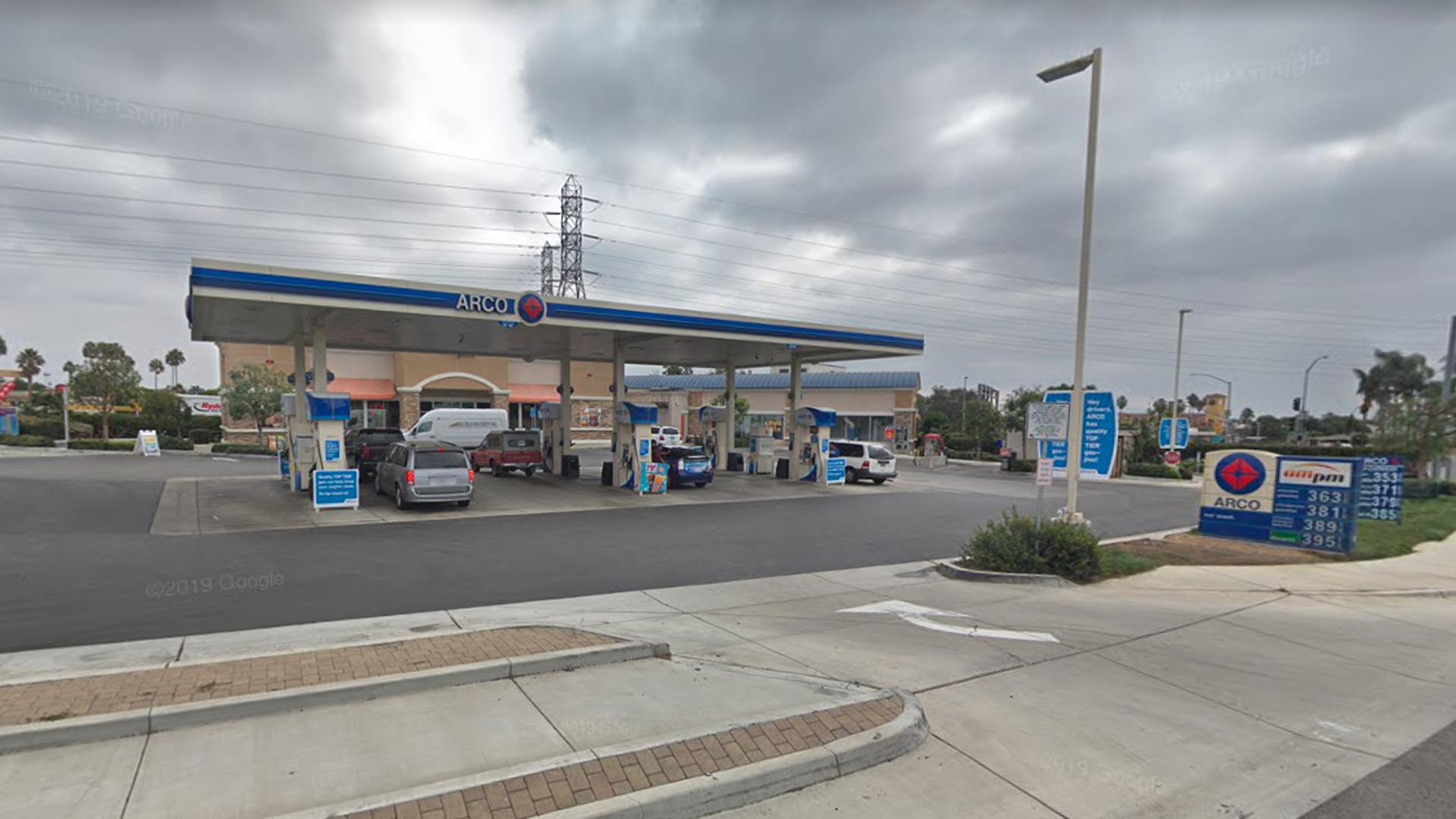 An ARCO gas station at 5669 Valentine Road in Ventura, as seen in a Google Street View image in November of 2018.