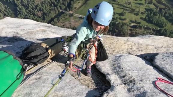 Selah Schneiter climbs Yosemite's El Capitan on June 12, 2019. (Credit: CNN)