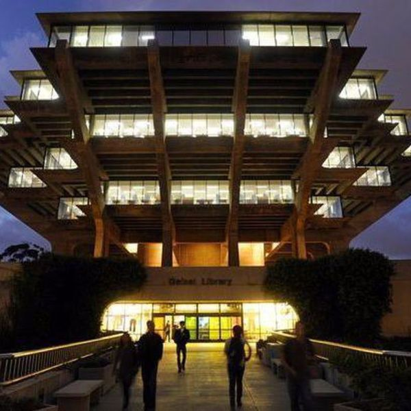 The Geisel Library at UC San Diego is seen in a file photo. (Credit: Los Angeles Times)
