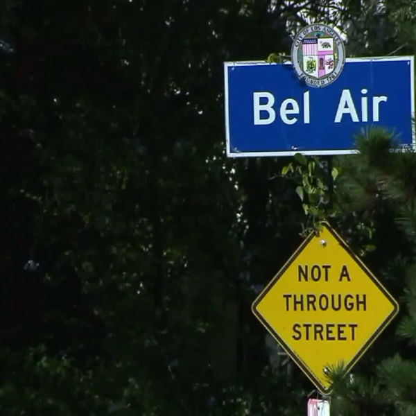 A street sign is seen in Bel Air in this file photo. (Credit: KTLA)
