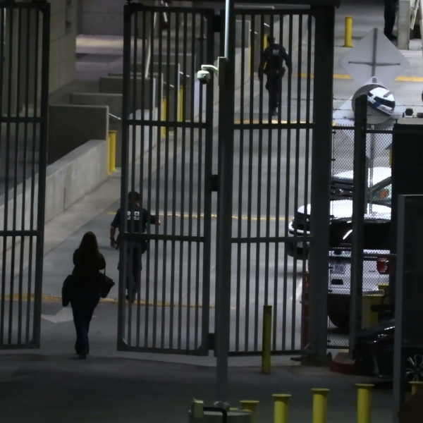 Authorities respond after a Border Patrol agent was involved in a shooting at the San Ysidro Port of Entry on June 3, 2019. (Credit: OnScene.TV)