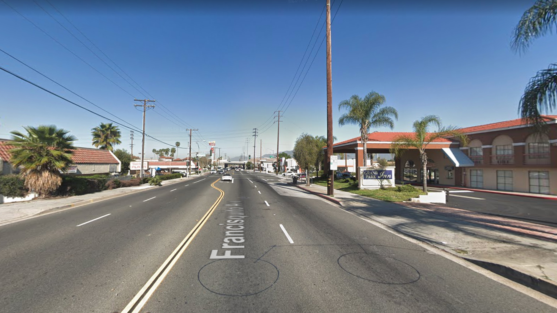 The 13900 block of Francisquito Avenue in Baldwin Park, as pictured in a Google Street View image in March of 2019.
