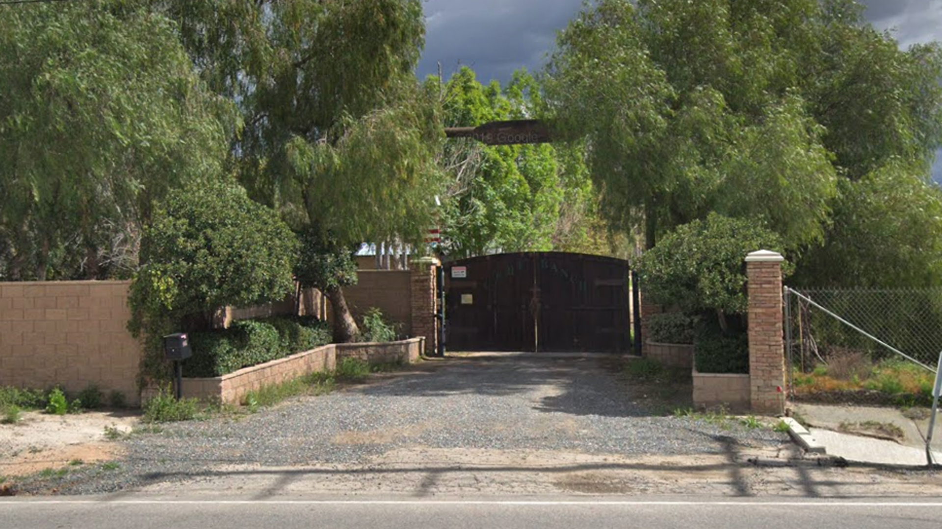 The entrance to the California Equine Retirement Foundation is seen in a Google Maps image.