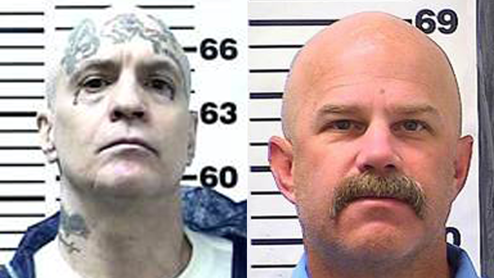 From left to right: Ronald Yandell and William Sylvester are see in undated photos released by the California Department of Corrections and Rehabilitation.