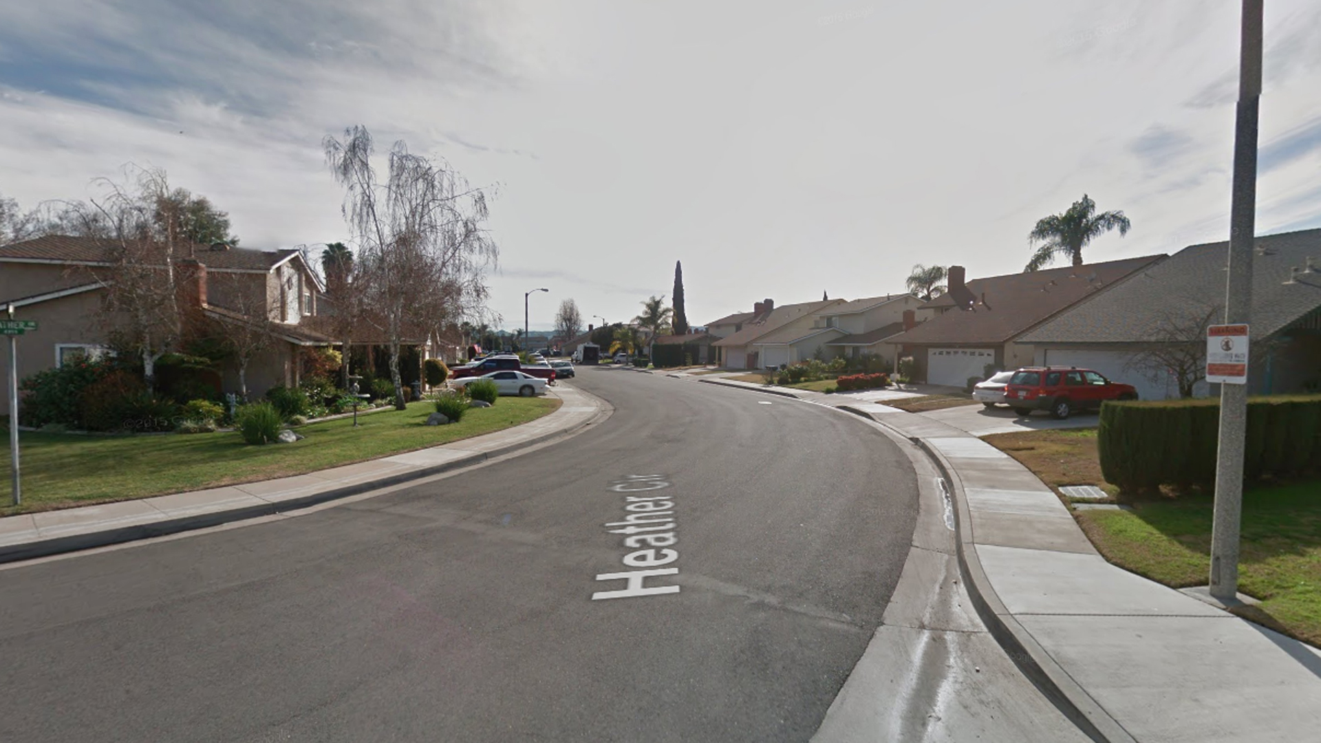 The 4300 block of Heather Circle in Chino, as pictured in a Google Street View image in January 2018.