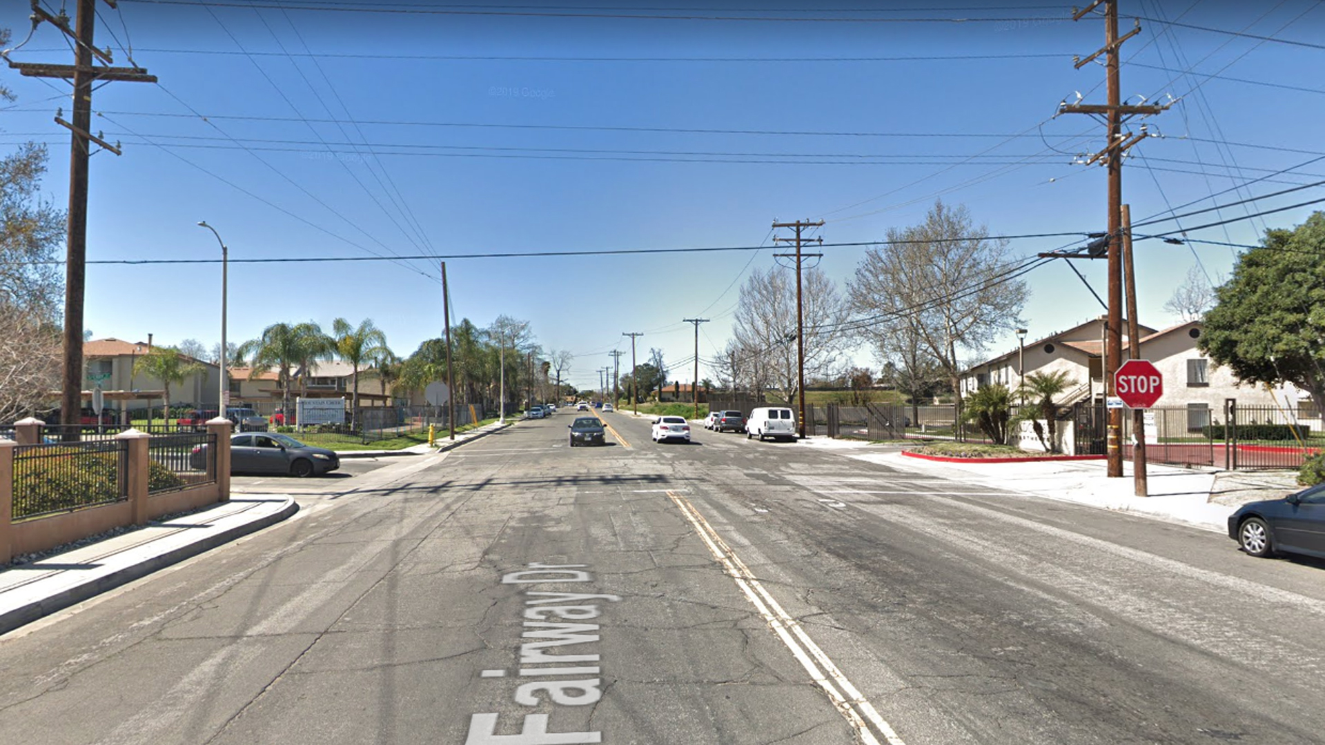 The intersection of Fairway and Sperry drives in Colton, as seen in a Google Street View image in March of 2019.
