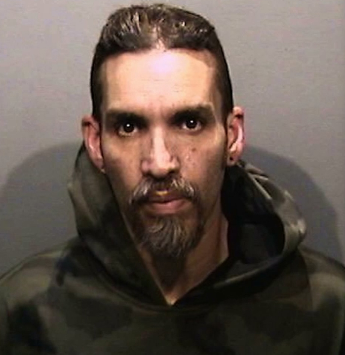 Derick Almena appears in a 2017 booking photo released by the Alameda County Sheriff's Office. (KGO via CNN)