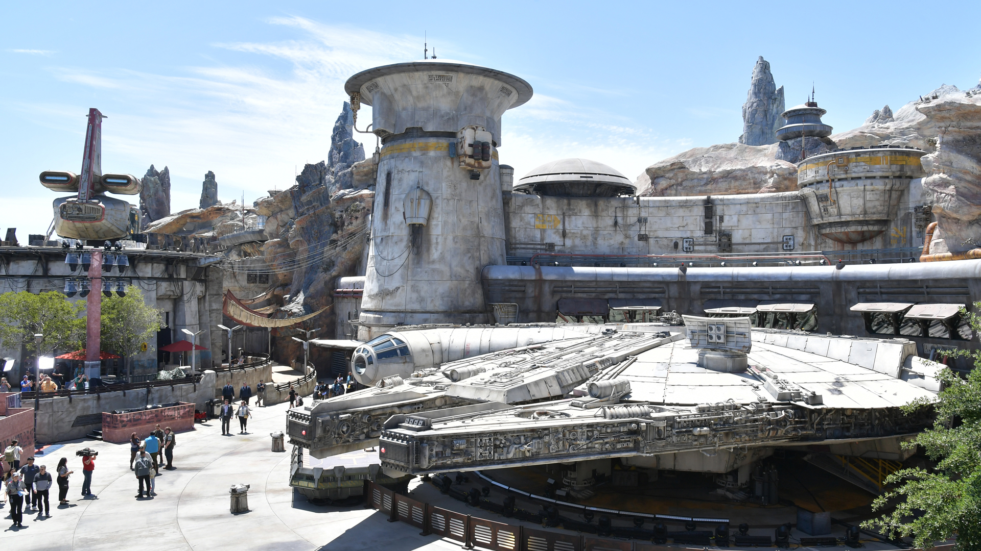 The Millennium Falcon ride in Disneyland's Star Wars: Galaxy's Edge is seen on May 29, 2019. (Credit: Amy Sussman/Getty Images)