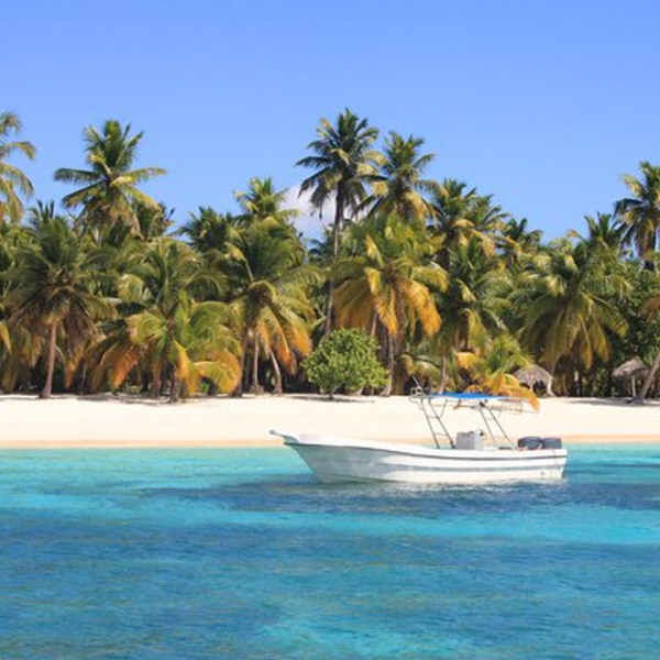 Paradisiac beach at Punta Cana, Dominican Republic. (Credit: Getty Images)