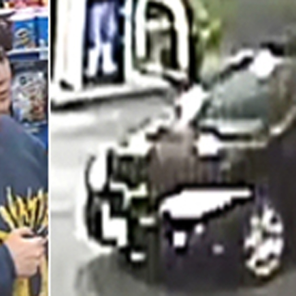 LAPD released surveillance images of a woman and a car being sought in connection with a hit-and-run in the East Hollywood area on May 19, 2019.