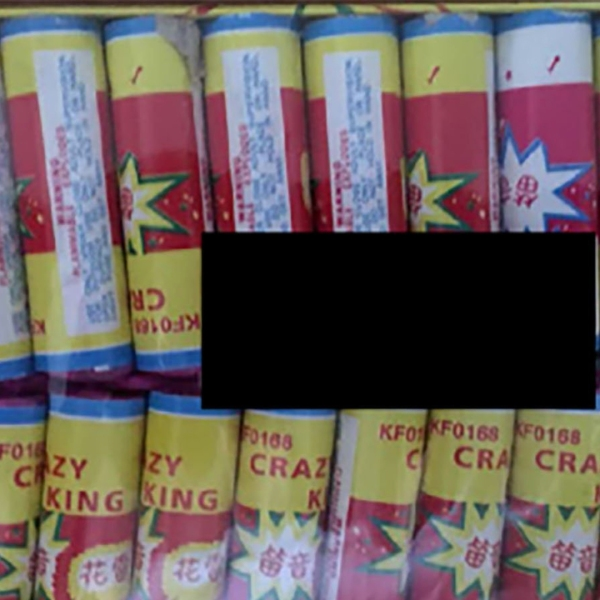 Crazy King Crackers are among the 25,000 fireworks that were recalled after a boy lost his hand. (Credit: Consumer Product Safety Commission)
