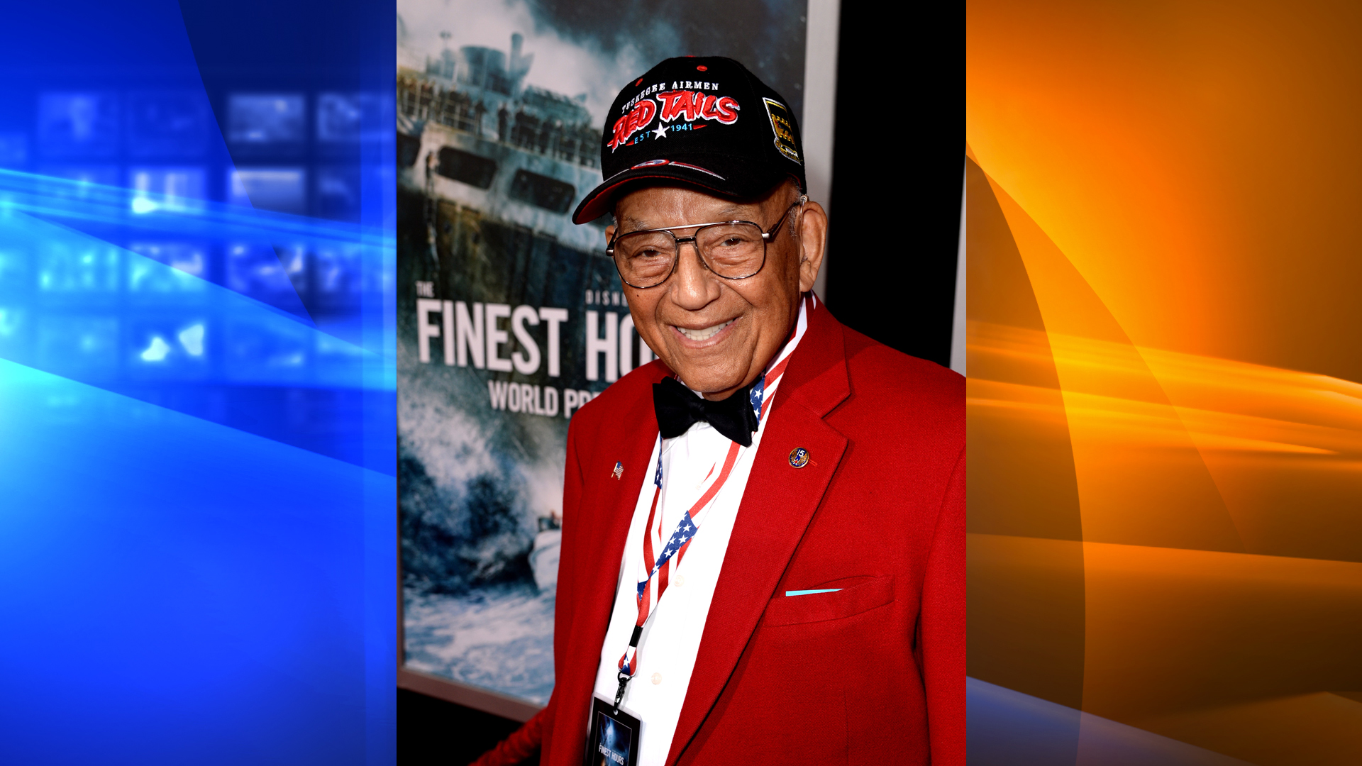 "Tuskegee Airman Lt. Col. Robert Friend arrives at the premiere of Disney's ""The Finest Hours"" at the TCL Chinese Theatre on January 25, 2016 in Los Angeles, California. (Credit: Kevin Winter/Getty Images)"