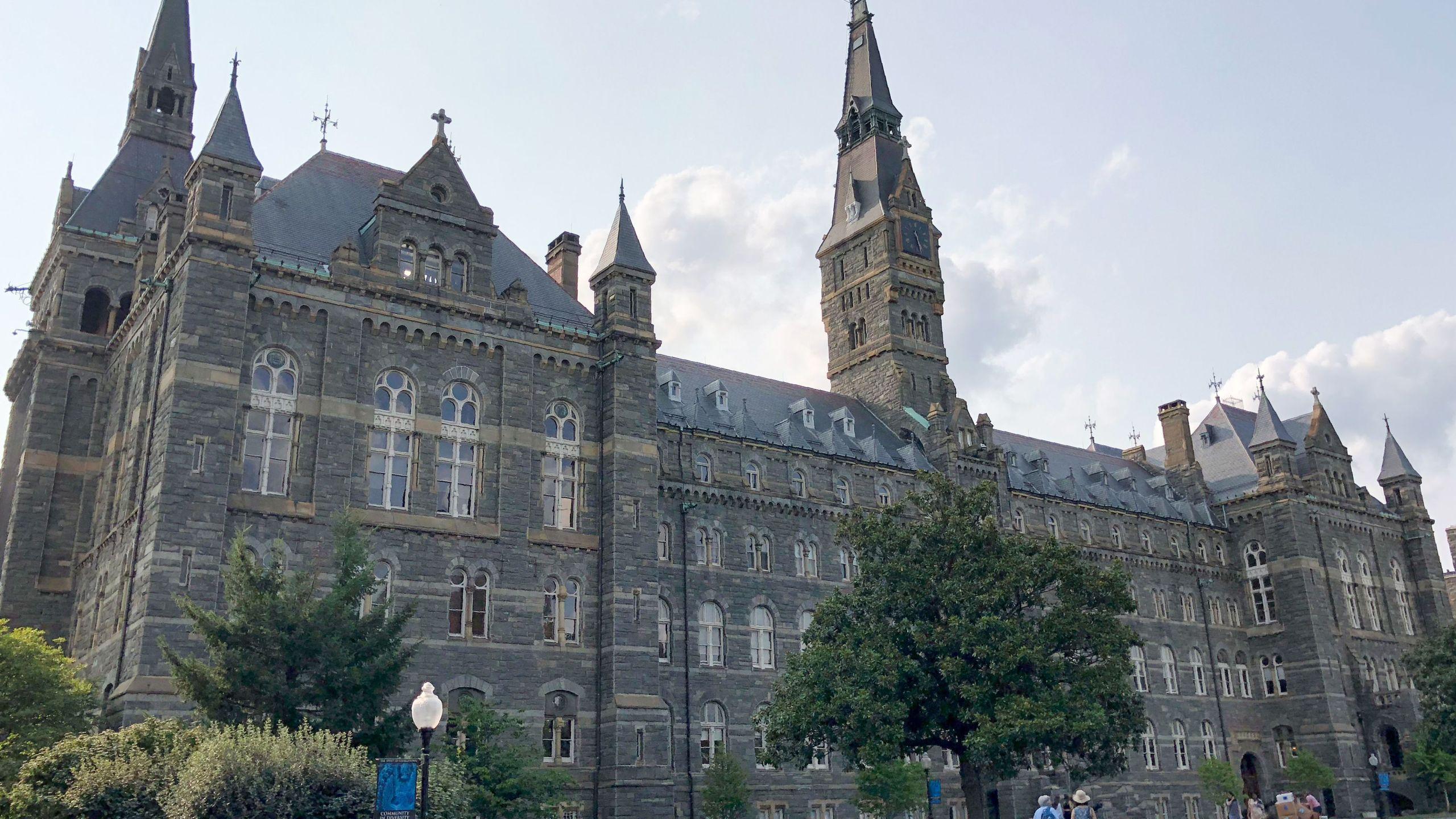 View of Georgetown University campus in the Georgetown neighborhood of Washington, D.C. on August 19, 2018. (Credit: DANIEL SLIM/AFP/Getty Images)