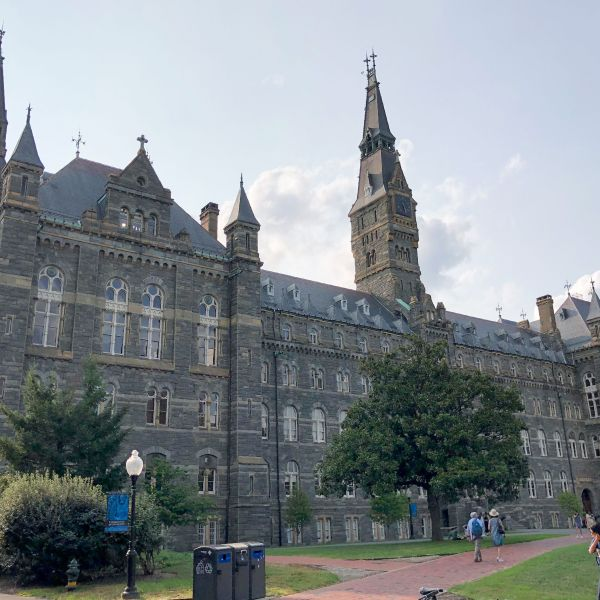 View of Georgetown University campus in the Georgetown neighborhood of Washington, D.C. on August 19, 2018. (Credit: DANIEL SLIM/AFP/Getty Images)