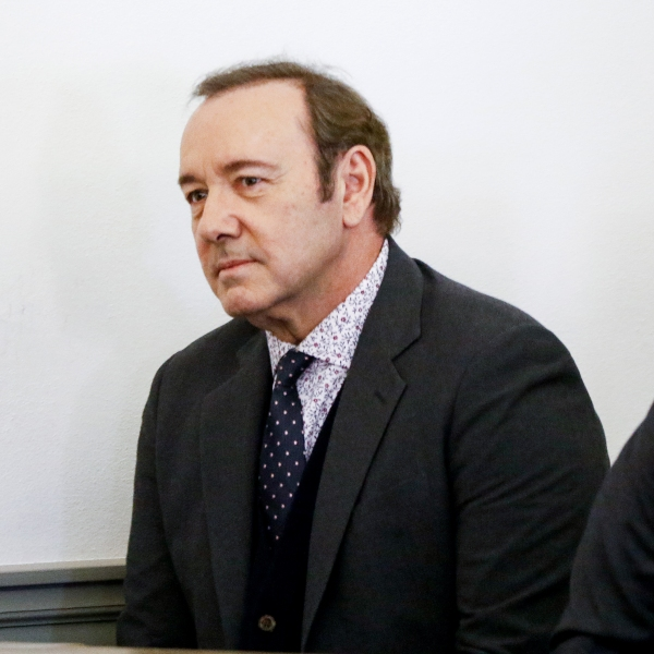 Actor Kevin Spacey attends his arraignment for sexual assault charges at Nantucket District Court on January 7, 2019 in Nantucket, Massachusetts. (Credit: Nicole Harnishfeger-Pool/Getty Images)