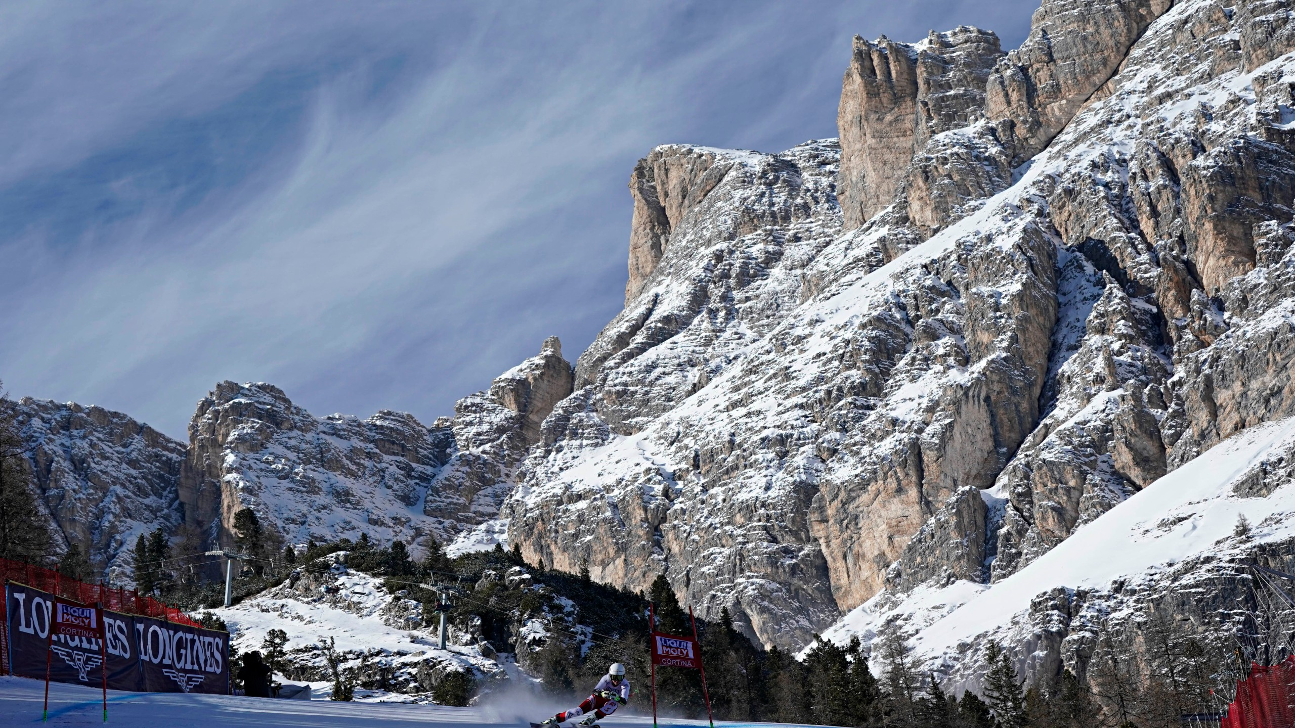 A general view during the Audi FIS Alpine Ski World Cup Women's Super G on Jan. 20, 2019, in Cortina d'Ampezzo Italy. (Credit: Francis Bompard/Agence Zoom/Getty Images)