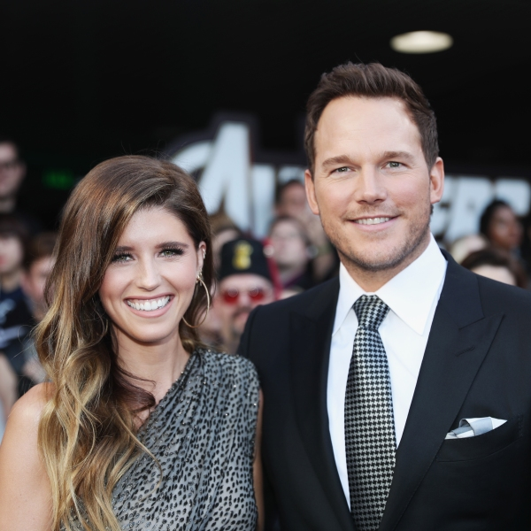 """Katherine Schwarzenegger and Chris Pratt attend the Los Angeles World Premiere of Marvel Studios' """"Avengers: Endgame"""" at the Los Angeles Convention Center on April 23, 2019 in Los Angeles. (Credit: Rich Polk/Getty Images for Disney)"""