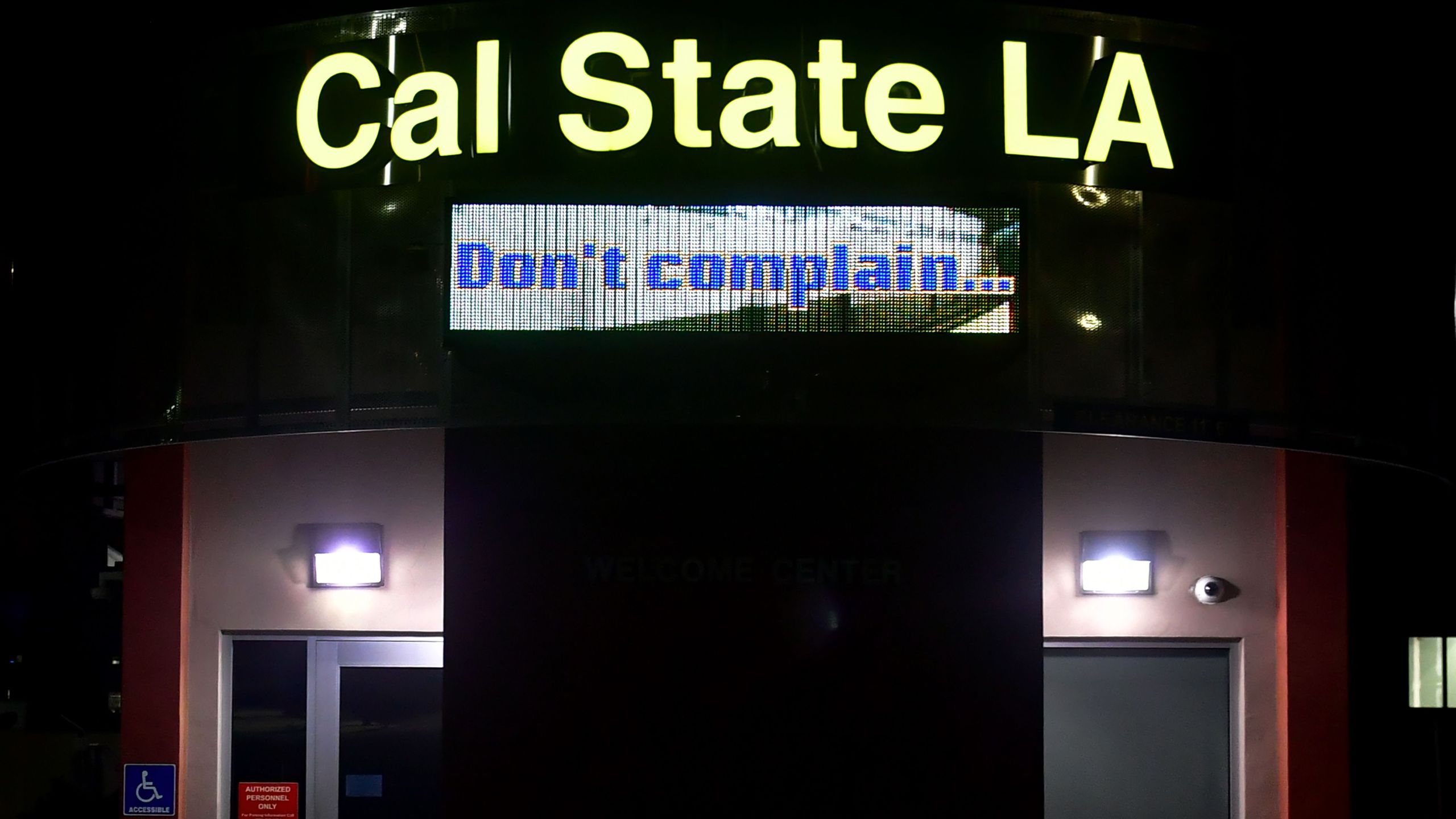 The Cal State Los Angeles campus is pictured during a measles quarantine that was issued for staff and students on April 25, 2019, in Los Angeles, California. (Credit: FREDERIC J. BROWN/AFP/Getty Images)