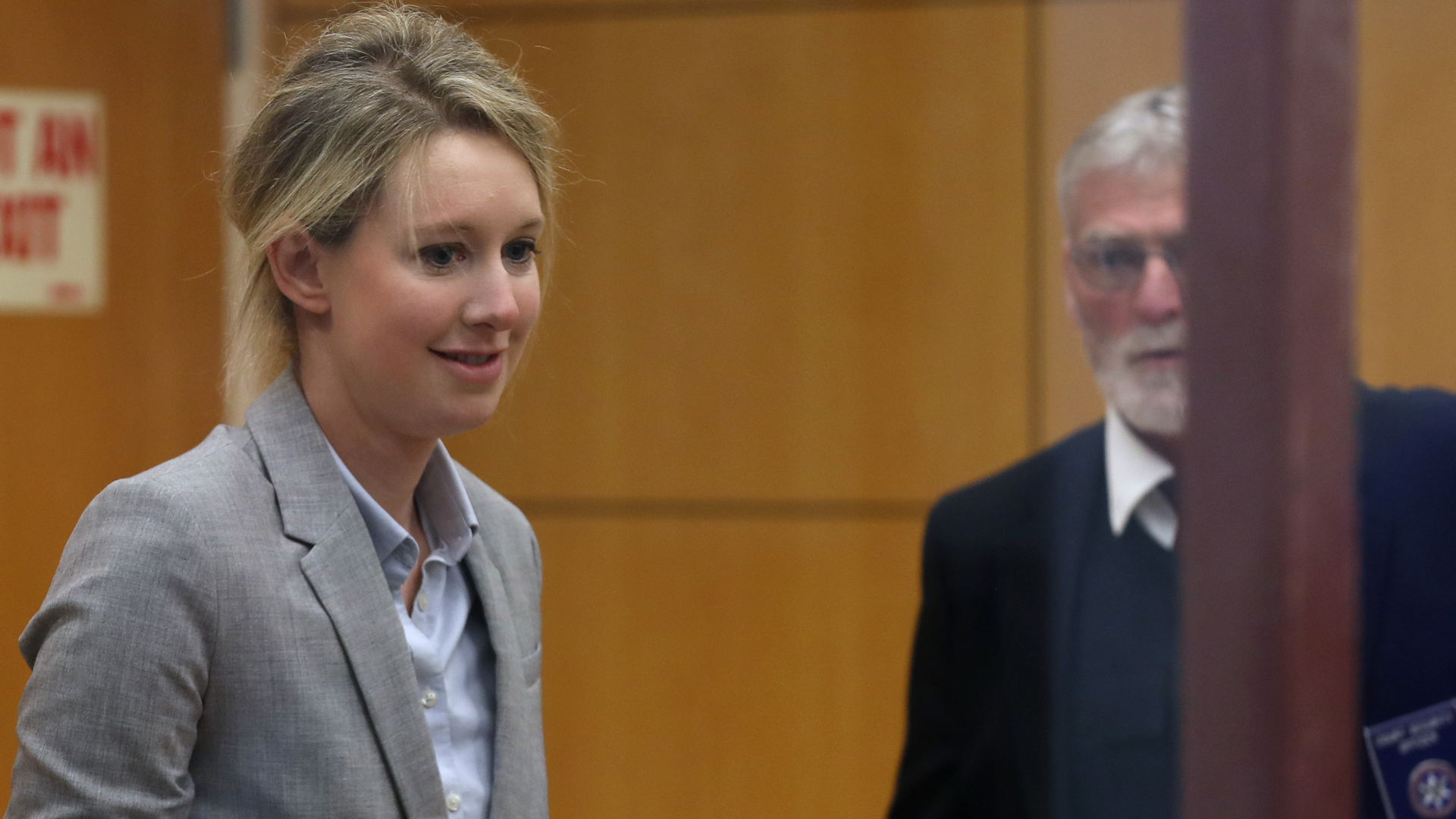 Former Theranos founder and CEO Elizabeth Holmes arrives at the Robert F. Peckham U.S. Federal Court on April 22, 2019, in San Jose, California. (Credit: Justin Sullivan/Getty Images)