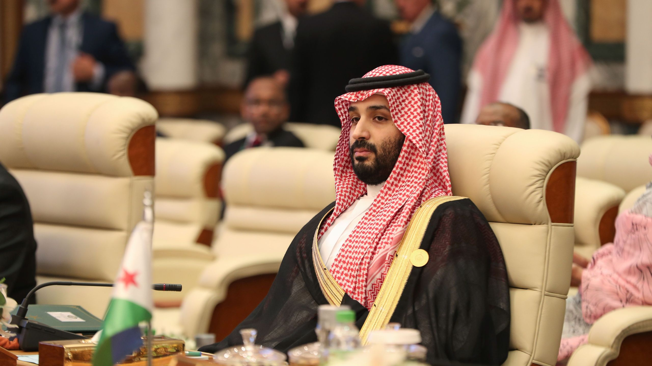 Saudi Crown Prince Mohammed bin Salman attends the extraordinary Arab summit held at al-Safa Royal Palace in Mecca on May 31, 2019. (Credit: BANDAR ALDANDANI/AFP/Getty Images)