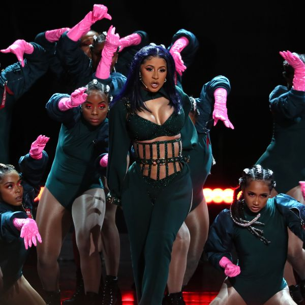 Cardi B performs onstage during the 2019 BET awards at Microsoft Theater in Los Angeles on June 23, 2019. (Credit: Jean-Baptiste LACROIX/AFP/Getty Images)