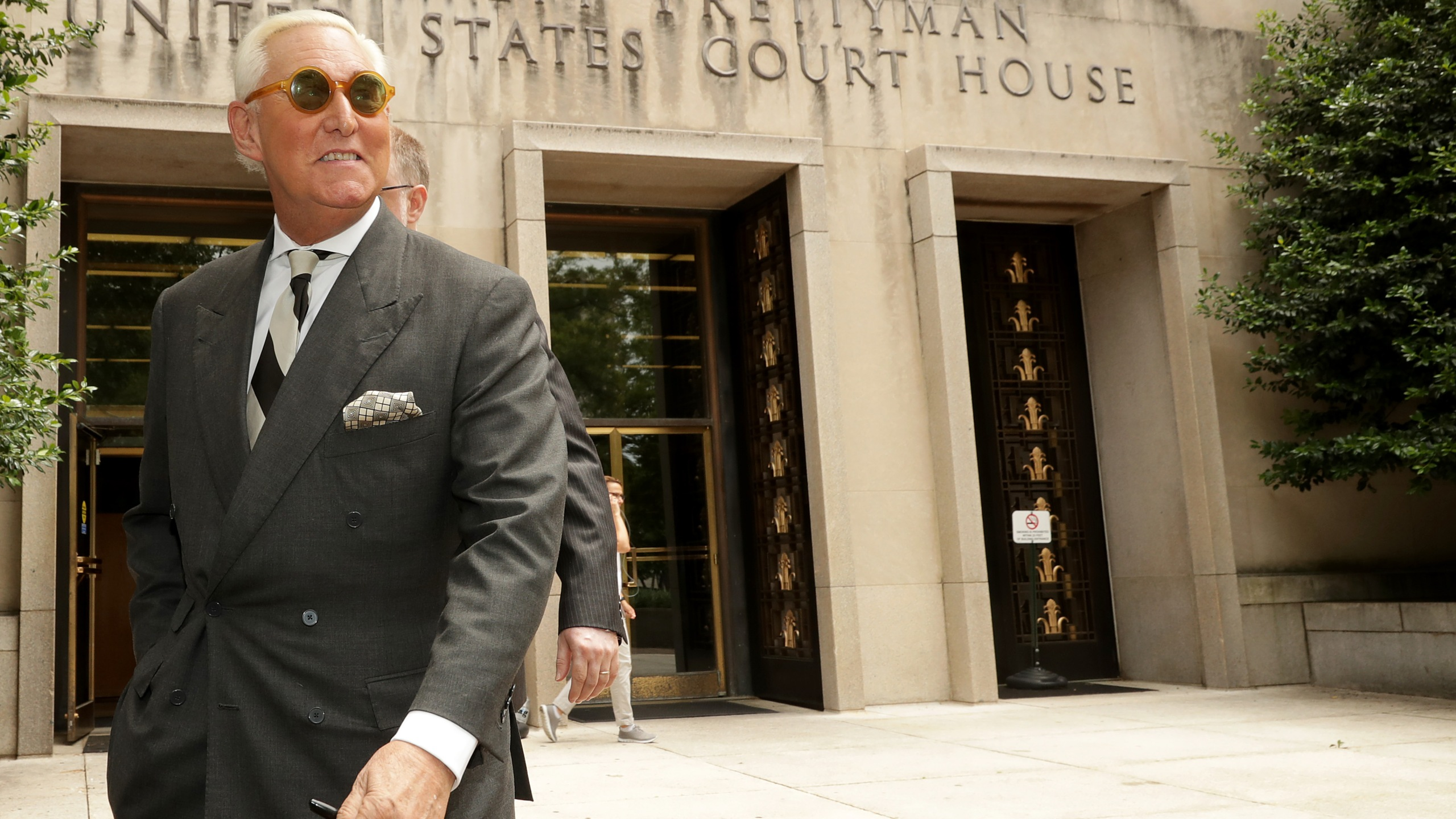Roger Stone, former adviser to Donald Trump, leaves the E. Barrett Prettyman United States Court House in Washington, D.C. on May 30, 2019. (Credit: Chip Somodevilla/Getty Images)