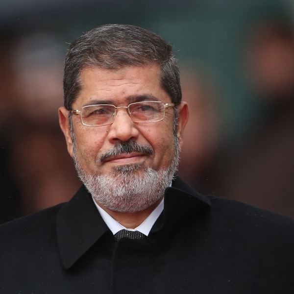 Egyptian President Mohamed Morsi arrives at the Chancellery to meet with German Chancellor Angela Merkel on January 30, 2013 in Berlin, Germany. (Credit: Sean Gallup/Getty Images)