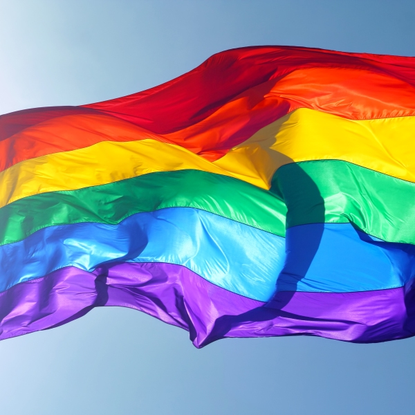 A rainbow flag is seen in a file photo. (Credit: Getty Images)