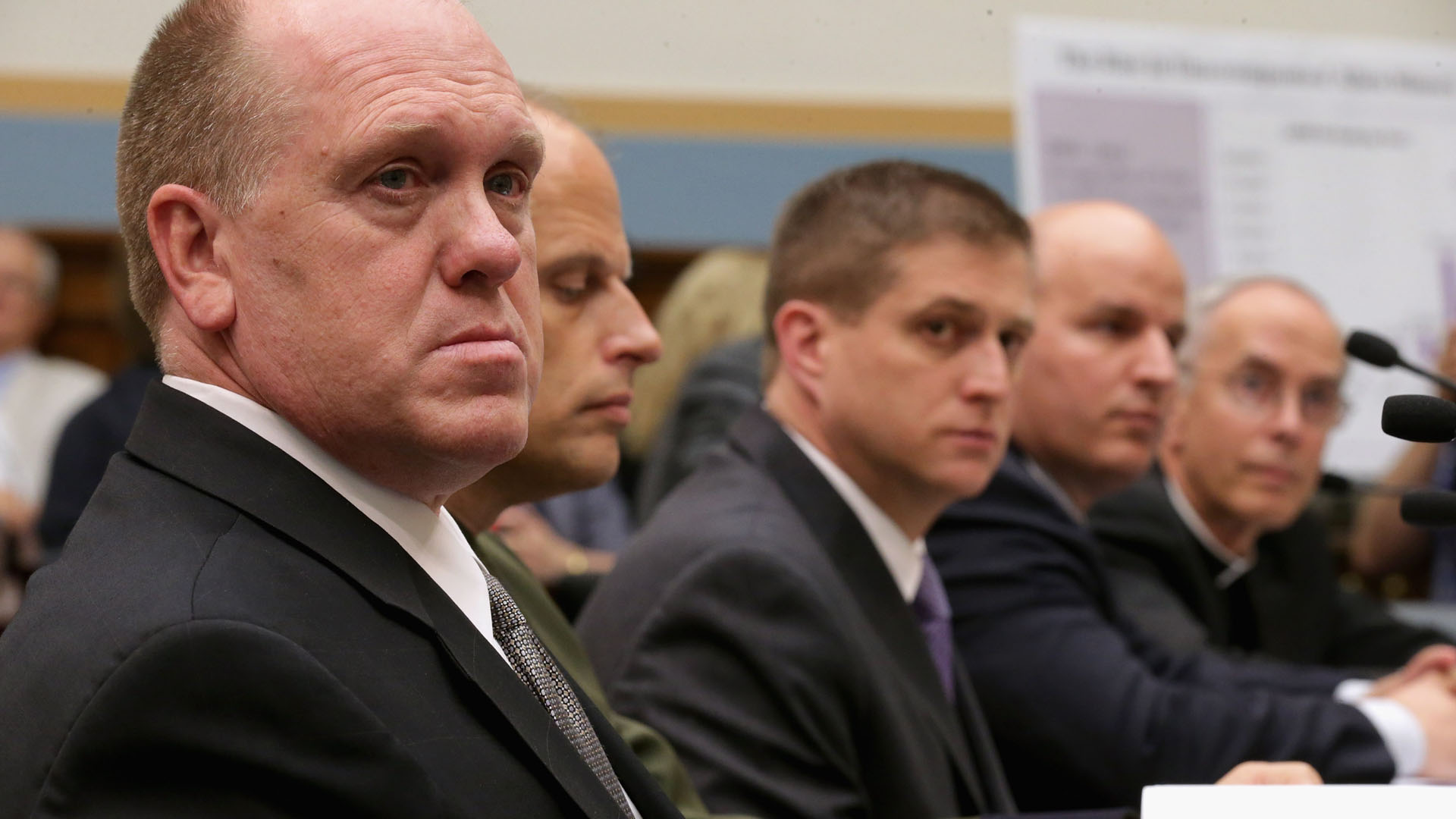 Tom Homan and others testify before the House Judiciary Committee about the surge of unaccompanied Central American minors who have been crossing the U.S.-Mexico border, during a hearing in Capitol Hill on June 25, 2014, in Washington, D.C. (Credit: Chip Somodevilla/Getty Images)