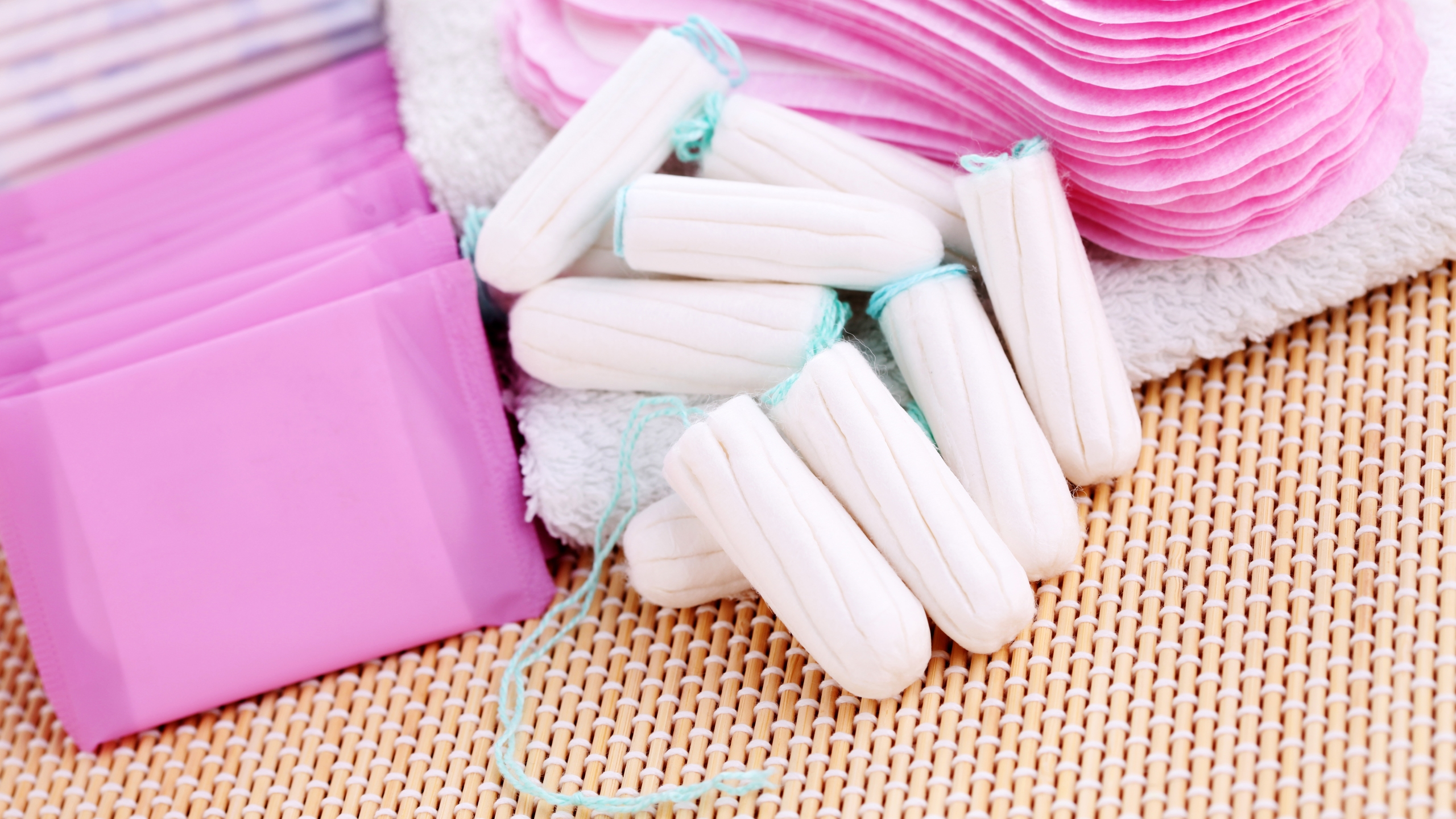 Pads, tampons and liners are seen in a file photo. (Credit: iStock / Getty Images Plus)