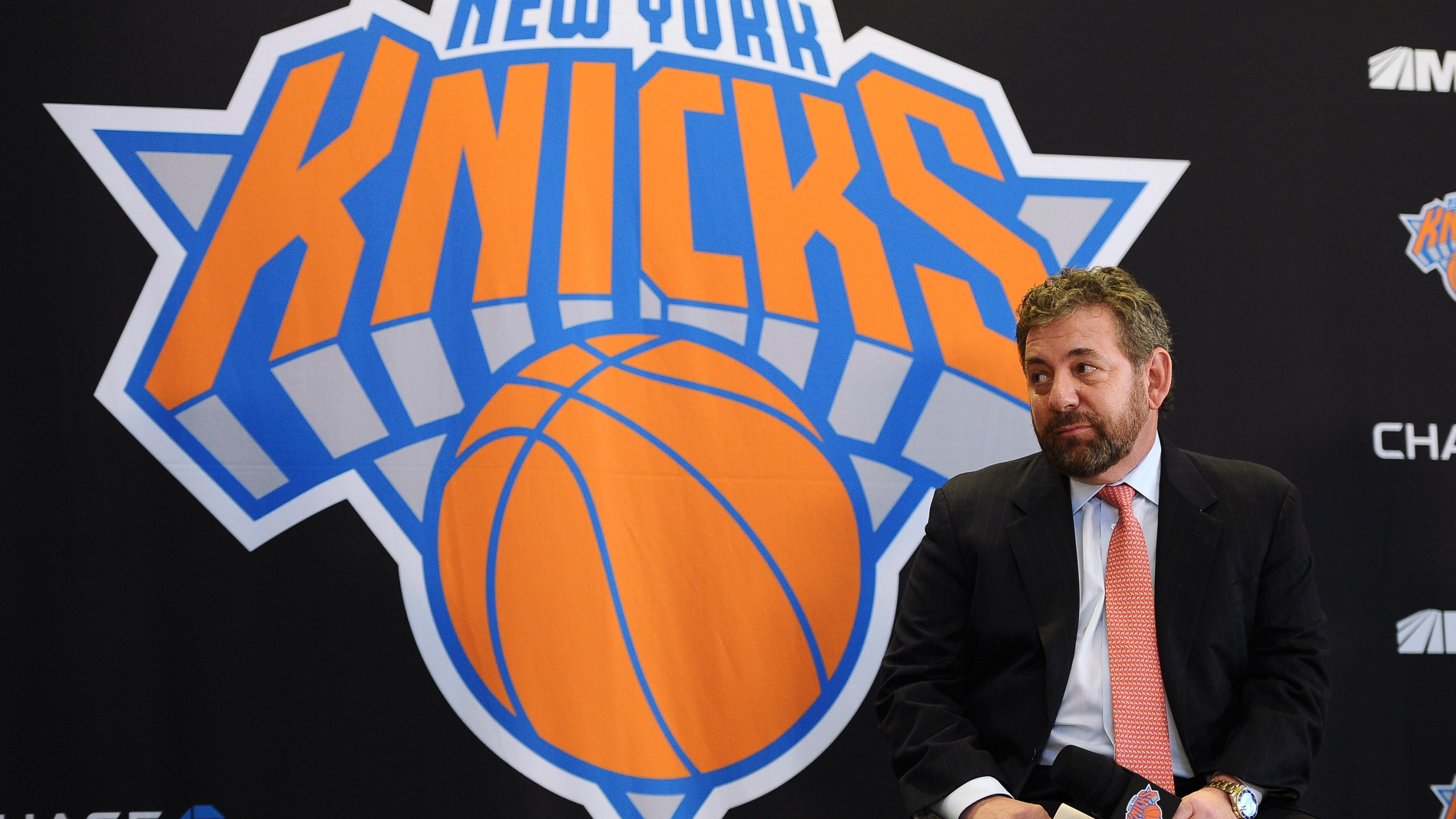 James Dolan, Executive Chairman of Madison Square Garden looks on during the press conference on March 18, 2014 in New York City. (Credit: Maddie Meyer/Getty Images)