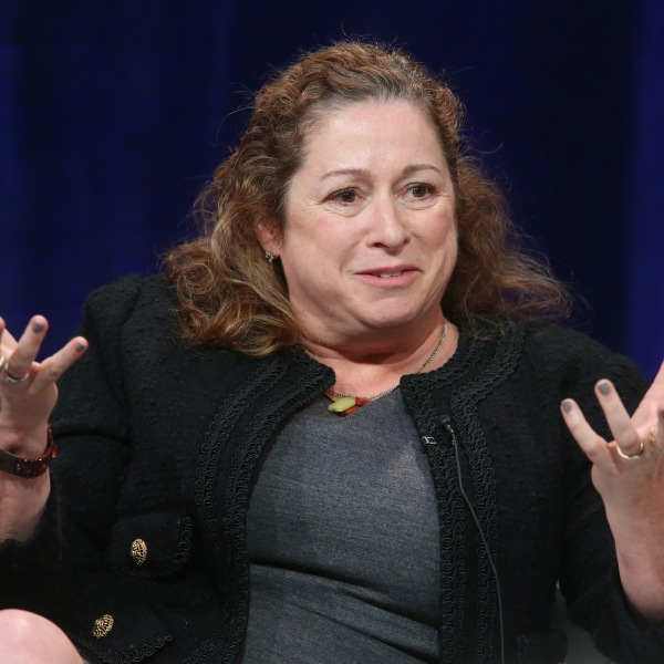 Abigail Disney speaks on stage during a PBS panel at the 2016 Television Critics Association Winter Press Tour at Langham Hotel on Jan. 18, 2016 in Pasadena. (Credit: Frederick M. Brown/Getty Images)